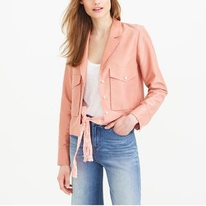 NWT J.Crew Collection Silk Blend Cropped Jacket